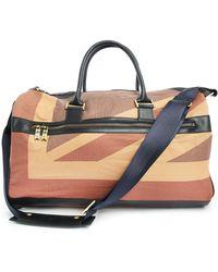 Hackett Union Flag Travel Bag With Wheels brown - Lyst