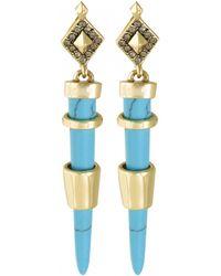 House Of Harlow 1960 Rift Valley Drop Earrings blue - Lyst