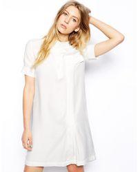 Le Mont St Michel Silk Shift Dress - Lyst