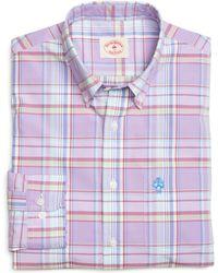 Brooks Brothers Plaid Sport Shirt - Lyst