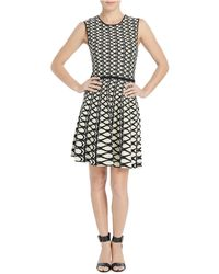 Ellen Tracy - Jacquard Fit-and-flare Dress - Lyst