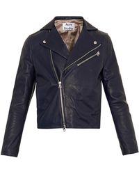 Acne Studios Gibson Leather Biker Jacket - Lyst