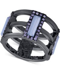 T Tahari - Stone And Crystal Cutout Ring - Lyst
