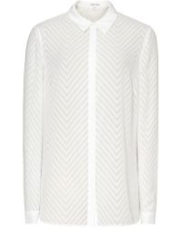 Reiss Kumi Sheer Patterned Shirt - Lyst
