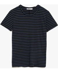 Stateside Striped S/S Tee gray - Lyst