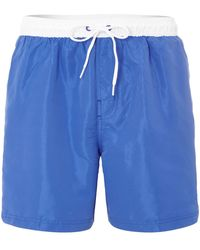 Calvin Klein Contrast Waistband Quick Dry Swim Short - Lyst