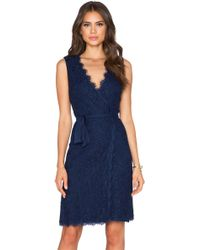 Diane von Furstenberg Julianna Two Lace Wrap Dress - Lyst