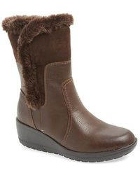 Softspots | 'corby' Waterproof Wedge Boot | Lyst