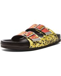 Givenchy Printed Swiss Leather Sandals - Lyst