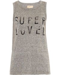 Current/Elliott The Muscle Tee Printed Tank Top - Lyst
