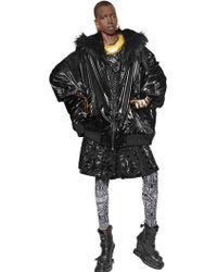 KTZ - Oversized Nylon Jacket W/ Faux Fur Trim - Lyst