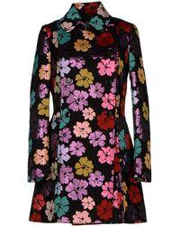 John Galliano Multicolor Coat - Lyst