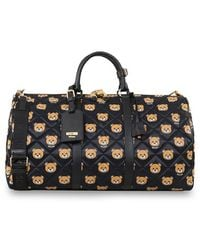 Moschino Bear Print Quilted Weekend Bag - Lyst