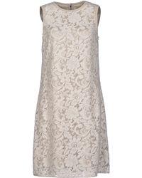 Dolce & Gabbana Beige Short Dress - Lyst
