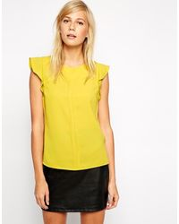 Oasis Frilly Crepe Top - Lyst