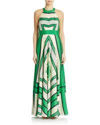Eliza J Geometric Halter Maxi Dress - Lyst