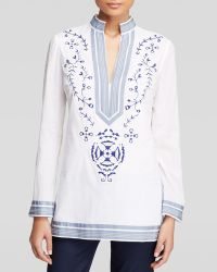 Tory Burch Tory Embroidered Tunic - Lyst