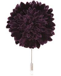 Lanvin - Velvet Flower Pin - Lyst