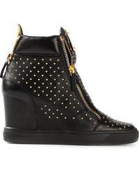 Giuseppe Zanotti Studded Hitop Sneakers - Lyst