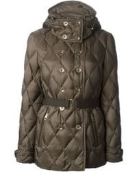 Burberry Brit Double Breasted Padded Jacket - Lyst