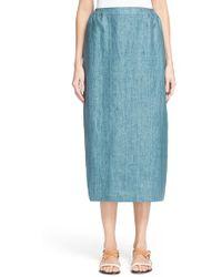 Eskandar - Surface Print Linen Skirt - Lyst