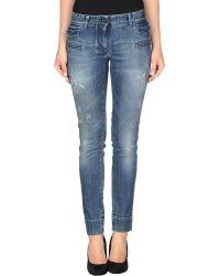 Dolce & Gabbana Blue Denim Pants - Lyst