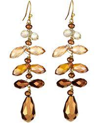 Nakamol Mixed Crystal Drop Earrings - Lyst
