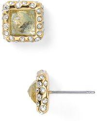 Alexis Bittar Geometric Aqua Stud Earrings - Lyst