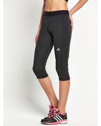 Adidas Threequarter Tights - Lyst