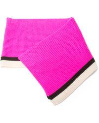 Bouchra Jarrar - Baby Alpaca Solid Knit Scarf - Lyst