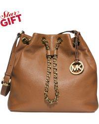 Michael Kors Michael Frankie Large Drawstring Shoulder Bag - Lyst