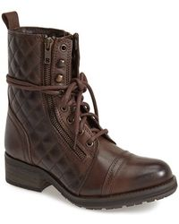 Steve Madden 'Yanki' Quilted Leather Mid Boot - Lyst