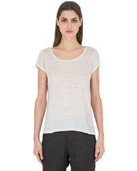 Transit Linen T-shirt - White