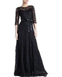 Rickie Freeman for Teri Jon Floral Lace Gown - Lyst