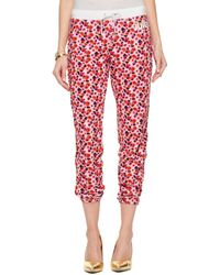 Juicy Couture | Micro Terry Marina Floral Slim Comfy Pant | Lyst