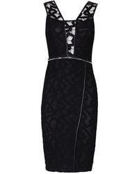 Yigal Azrouel Jet Lace Zipper Dress - Lyst
