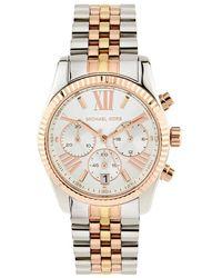 Michael Kors - Tri-colour Lexington 38mm Chronograph Watch - Lyst