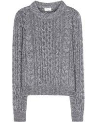 Saint Laurent Wool-Blend Sweater - Lyst