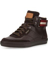 Bally Olsen Leather High-top Sneaker - Lyst