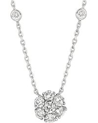 Morris & David - 14kt White Gold And Diamond Necklace - Lyst