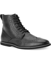 Calvin Klein Fields Wing-tip Boots - Lyst