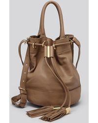 See By Chloé Shoulder Bag - Vicki Medium Leather Handcarry Bucket - Lyst
