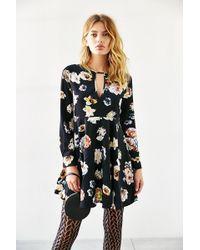 Oh My Love She Loves Tea Floral Dress - Black