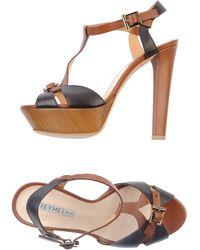 Grey Mer Brown Sandals - Lyst