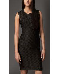 Burberry Fil Coupé Shift Dress - Lyst