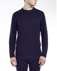 Selected Damian Crew Neck Jumper - Lyst