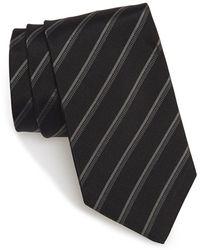 John Varvatos Stripe Silk Tie - Lyst