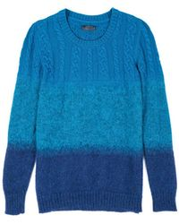 Costume National Blue Cable Sweater - Lyst