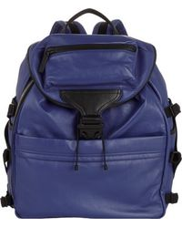 Alexander McQueen Blue Rib-cage Backpack - Lyst