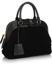 Burberry Prorsum Medium Shearling and Leather Tote - Lyst